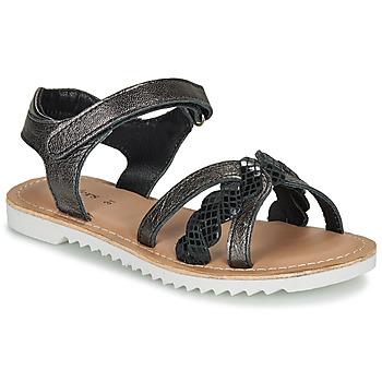 Pantofi Fete Sandale  Kickers SHARKKY Negru