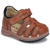 Pantofi Băieți Sandale  Kickers PLATIBACK Camel