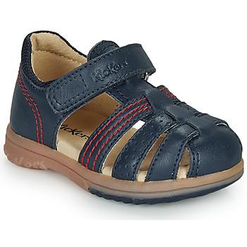 Pantofi Băieți Sandale  Kickers PLATIBACK Bleumarin