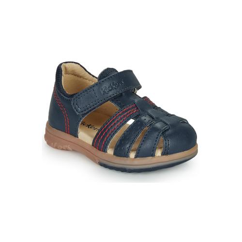 Pantofi Băieți Sandale  Kickers PLATIBACK Albastru