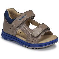 Pantofi Băieți Sandale  Kickers PLAZABI Gri / Albastru