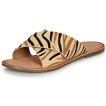 Pantofi Femei Papuci de vară Kickers DIAZ-2 Bej / Negru / Maro