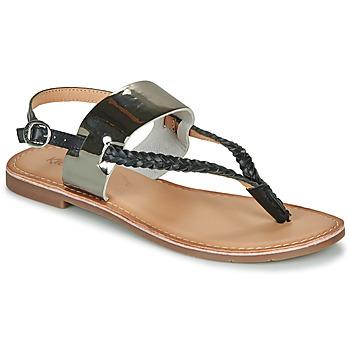Pantofi Femei Sandale  Kickers ESTHERA Negru / Argintiu