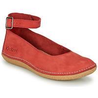 Pantofi Femei Balerin și Balerini cu curea Kickers HONNORA Roșu