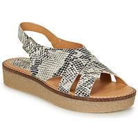 Pantofi Femei Sandale  Kickers VICTORYNE Alb / Negru / Piton