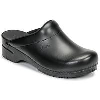 Pantofi Bărbați Saboti Sanita KARL OPEN Negru