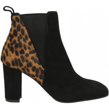 Pantofi Femei Botine Albano CAMOSCIO nero