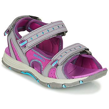 Pantofi Fete Sandale sport Merrell PANTHER SANDAL 2.0 Roz / Gri