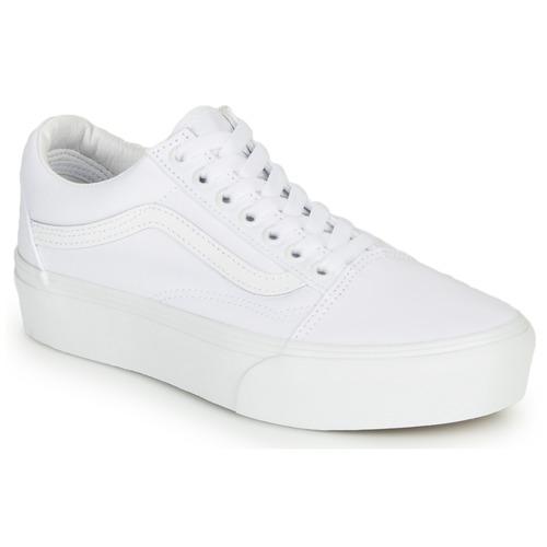 Pantofi Femei Pantofi sport Casual Vans OLD SKOOL PLATFORM Alb
