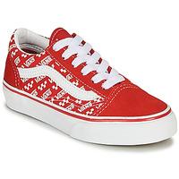 Pantofi Copii Pantofi sport Casual Vans Old Skool Roșu / Alb