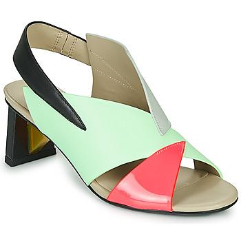 Pantofi Femei Sandale  United nude SPARK SANDAL MID Albastru / Roz