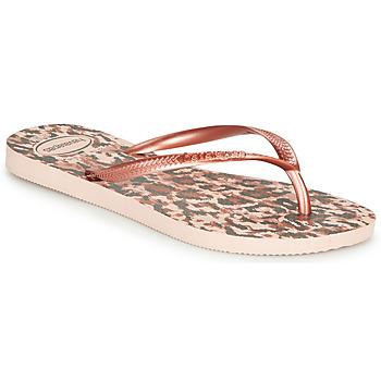 Pantofi Femei  Flip-Flops Havaianas SLIM ANIMALS Roz / Auriu
