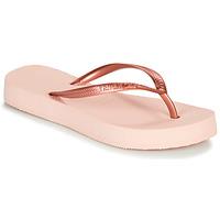 Pantofi Femei  Flip-Flops Havaianas SLIM FLATFORM Balet / Roz