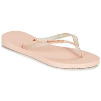 Pantofi Femei  Flip-Flops Havaianas SLIM LOGO METALLIC Roz