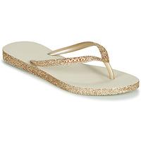 Pantofi Femei  Flip-Flops Havaianas SLIM SPARKLE Bej / Auriu
