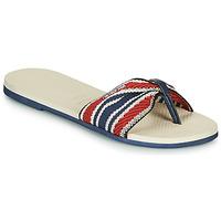 Pantofi Femei  Flip-Flops Havaianas YOU ST. TROPEZ FITA Bej / Bleumarin / Roșu