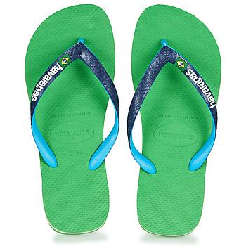 Pantofi  Flip-Flops Havaianas BRASIL MIX Verde / Albastru