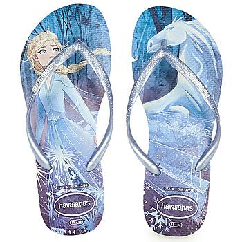 Pantofi Fete  Flip-Flops Havaianas KIDS SLIM FROZEN Albastru