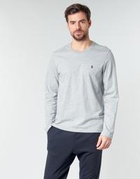 Îmbracaminte Bărbați Tricouri cu mânecă lungă  Polo Ralph Lauren L/S CREW-CREW-SLEEP TOP Gri