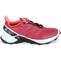 Pantofi Drumetie și trekking Salomon Supercross Cerise roșu