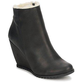 Pantofi Femei Botine D.Co Copenhagen SALLY ZIPPER Black