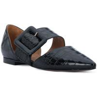 Pantofi Femei Balerin și Balerini cu curea Priv Lab COCCO NERO Nero