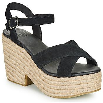 Pantofi Femei Sandale  Superdry HIGH ESPADRILLE SANDAL Negru