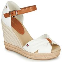 Pantofi Femei Sandale  Tommy Hilfiger BASIC OPENED TOE HIGH WEDGE Alb