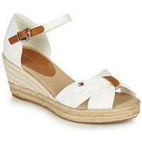 Pantofi Femei Sandale  Tommy Hilfiger BASIC OPENED TOE MID WEDGE Alb