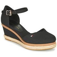 Pantofi Femei Sandale  Tommy Hilfiger BASIC CLOSED TOE MID WEDGE Negru