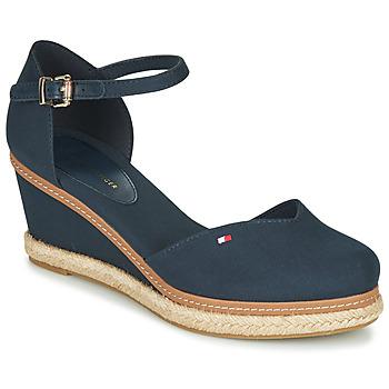Pantofi Femei Sandale  Tommy Hilfiger BASIC CLOSED TOE MID WEDGE Albastru