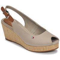 Pantofi Femei Sandale  Tommy Hilfiger ICONIC ELBA SLING BACK WEDGE Taupe
