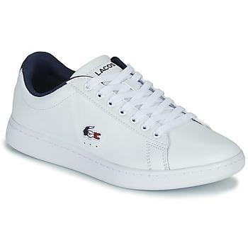 Pantofi Femei Pantofi sport Casual Lacoste CARNABY EVO TRI 1 SFA Alb / Bleumarin / Roșu