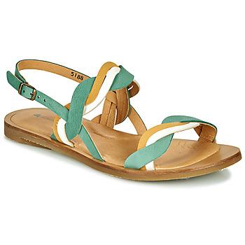 Pantofi Femei Sandale  El Naturalista TULIP Verde / Galben / Alb