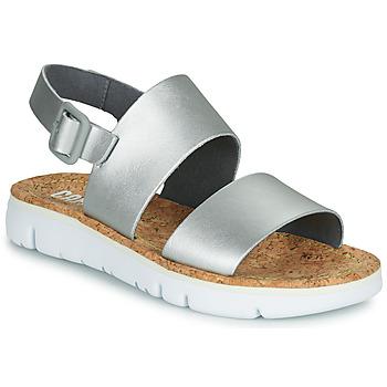 Pantofi Femei Sandale și Sandale cu talpă  joasă Camper Oruga Sandal Argintiu
