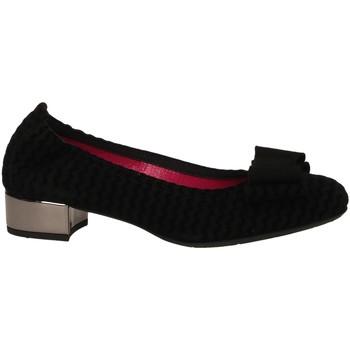 Pantofi Femei Balerin și Balerini cu curea Le Babe CAMOSCIO nero