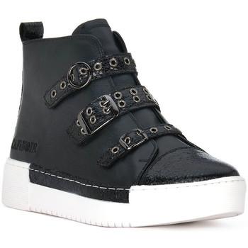 Pantofi Femei Pantofi sport stil gheata Café Noir CAFE NOIR  SNEAKER MULTIFIBBIE Nero