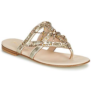 Pantofi Femei  Flip-Flops Fru.it CAROTE Auriu