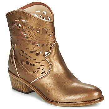 Pantofi Femei Botine Fru.it COWGOLD Bronz