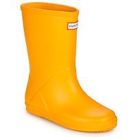 Pantofi Copii Cizme de cauciuc Hunter KIDS FIRST CLASSIC Galben