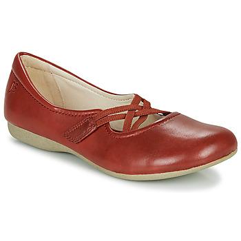 Pantofi Femei Balerin și Balerini cu curea Josef Seibel FIONA 41 Roșu