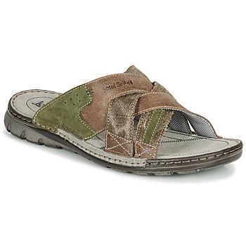 Pantofi Bărbați Papuci de vară Josef Seibel JOHN 02 Maro