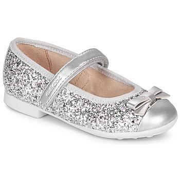 Pantofi Fete Balerin și Balerini cu curea Geox JR PLIE' Argintiu