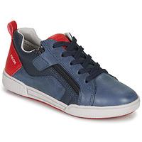 Pantofi Băieți Pantofi sport Casual Geox J POSEIDO BOY Bleumarin / Roșu