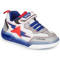 Pantofi Băieți Pantofi sport Casual Geox J INEK BOY Alb / Albastru / Roșu