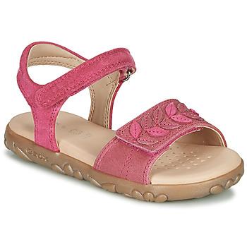 Pantofi Fete Sandale  Geox J SANDAL HAITI GIRL Fuchsia