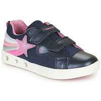 Pantofi Fete Pantofi sport Casual Geox J SKYLIN GIRL Bleumarin / Roz