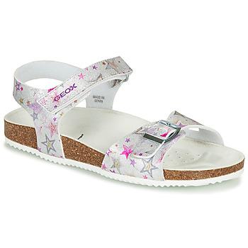 Pantofi Fete Sandale  Geox ADRIEL GIRL Argintiu