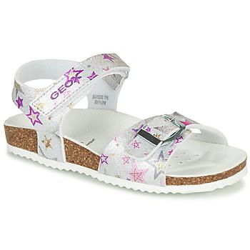 Pantofi Fete Sandale  Geox J ADRIEL GIRL Argintiu
