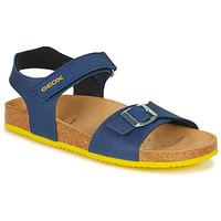 Pantofi Băieți Sandale  Geox GHITA BOY Albastru / Galben